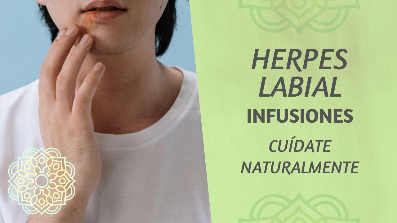 Infusiones naturales para herpes labial